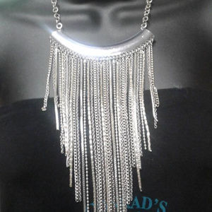 "15"" Silver Waterfall necklace"